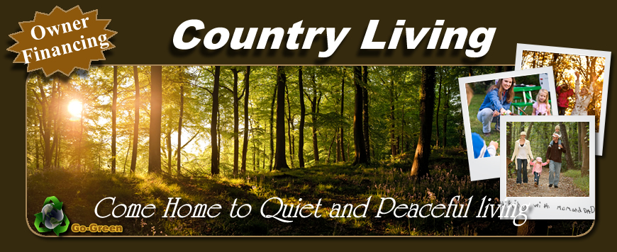 Country Living, come home to quiet and peaceful living.
